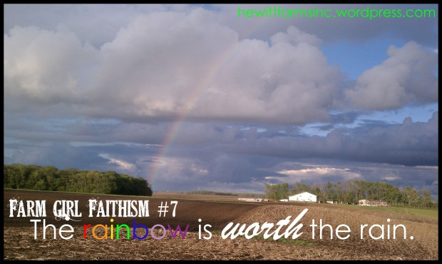 Farm Girl Faithism FridaysThe rainbow is worth the rain.