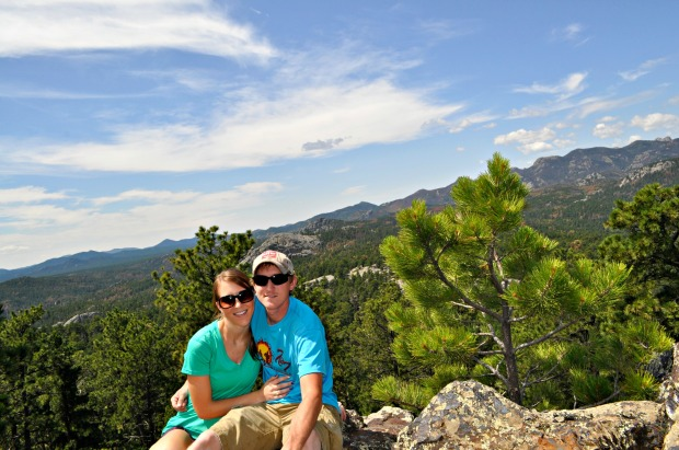On top of a gorgeous lookout in Custer State Park