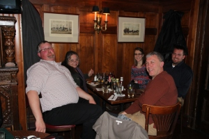 Our group at the Dubliner, a restaurant featuring many Irish dishes!  Photo by Lona Rookaird