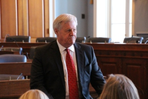 Meeting with Congressman Peterson in the Ag Committee Hearing Room. Photo by Lona Rookaird.