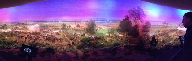 Just a portion of the cyclorama at Gettysburg.